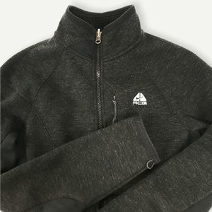 Nike ACG Womens Therma Fit Mock Neck Gray Zip Up Fleece Athletic Jacket Small
